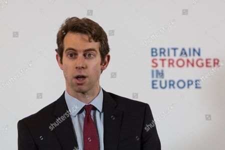 Will Straw, Director of the Stronger in Britain campaign introduces former Chancellor of the Exchequer, Alistair Darling, who makes a speech about 'Europe's Single Market: The real choice facing Britain', in Westminster
