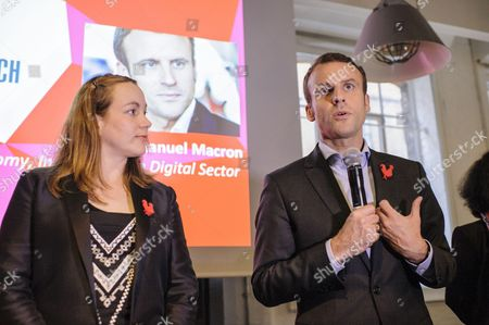 Axelle Lemaire, Minister of State for the Digital and Emmanuel Macron, French Minister of the Economy, Industry and the Digital Sector