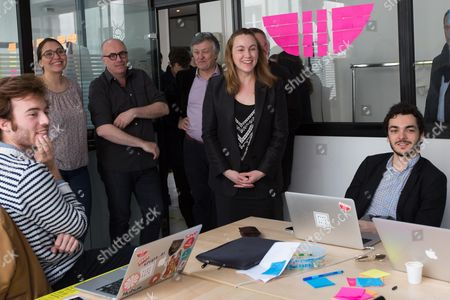 Axelle Lemaire Secretary of State in charge of digital  visits the 'Liberte Living Lab'