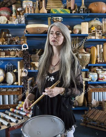 Stock Picture of Solo Percussionist Dame Evelyn Glennie