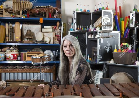Stock Photo of Solo Percussionist Dame Evelyn Glennie