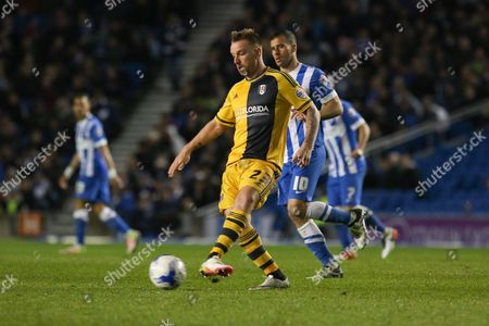 Fulham midfielder Jamie O'Hara (23) during the Sky Bet Championship match between Brighton and Hove Albion and Fulham at the American Express Community Stadium, Brighton and Hove
