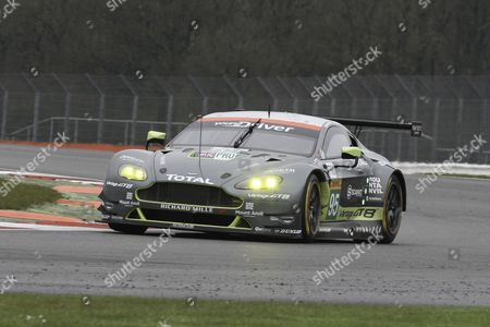 95 LMGTE Pro Aston Martin Racing / Aston martin Vantage V8 / Nicki Thiim / Marco Sorensen / Darren Turner during the FIA World Endurance Championship at Silverstone, Towcester