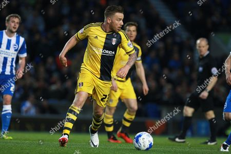 Fulham midfielder Jamie O'Hara during the Sky Bet Championship match between Brighton and Hove Albion and Fulham at the American Express Community Stadium, Brighton and Hove