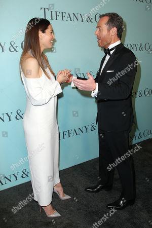 Jessica Biel and Frederic Cumenal (CEO; Tiffany & Co)