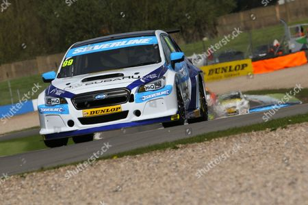 #99 Jason Plato - Subaru Team BMR, Subaru Levorg GT during the MSA British Touring Car Championship at Donington Park, Castle Donington