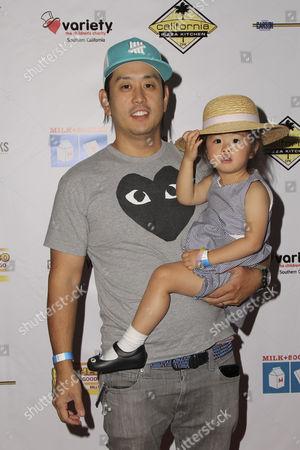 Joe Hahn and daughter
