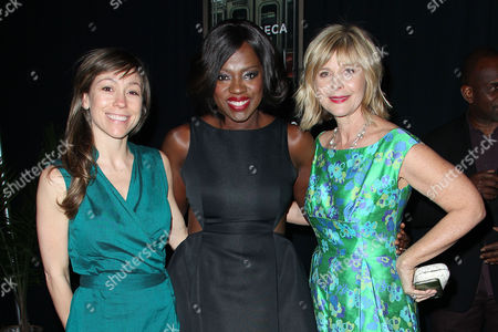 Stock Image of Katie Mustard (Producer), Viola Davis and Lauren Versel (Produce