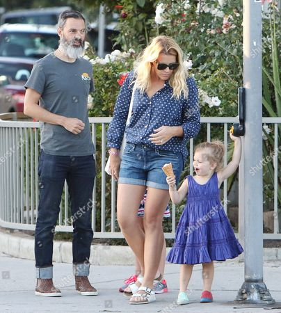 Marc Silverstein and Busy Philipps with daughter Cricket Pearl Silverstein