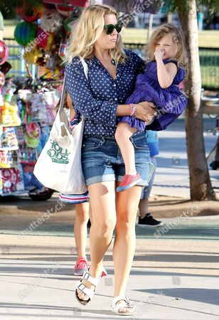 Stock Photo of Busy Philipps and Cricket Pearl Silverstein