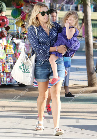 Stock Picture of Busy Philipps and Cricket Pearl Silverstein