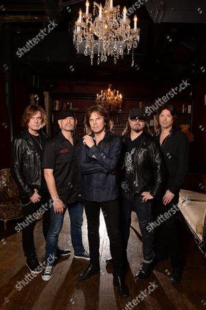 Stock Image of John Leven, Joey Tempest, Mic Michael, John Norum Ian Haugland,