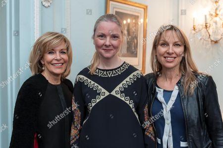 Francine Gorman, Sedish Ambassador Nicola Clase and Helienne Lindvall