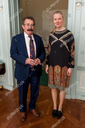 Stock Image of Robert Winston and Swedish Ambassador Nicola Clase
