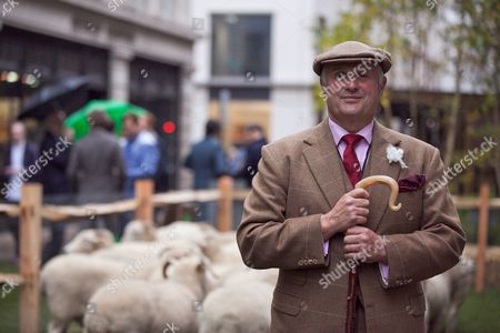 Harry Parker, owner of the Exmoor Horn flock