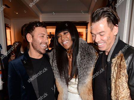 Mert Alas, Naomi Campbell and Marcus Piggott
