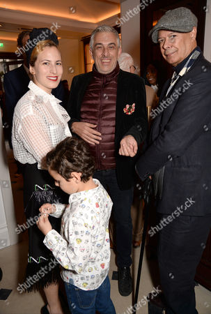 Charlotte Dellal and young guest, Rifat Ozbek