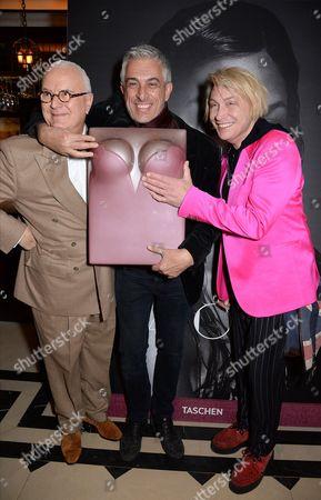Manolo Blahnik, Rifat Ozbek and Marilyn