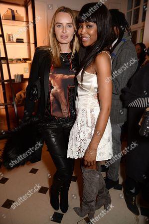Masha Markova and Naomi Campbell