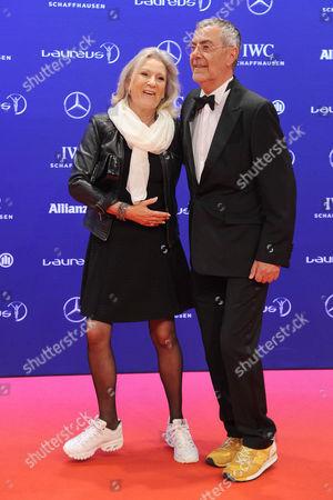 Sabine Christiansen and Norbert Medus