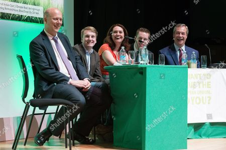 Editorial photo of Grassroots Out pro Brexit campaign rally, Victoria Hall, Stoke, Britain - 18 Apr 2016