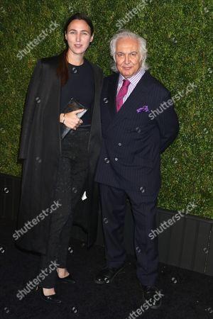 Tony Shafrazi (R) and guest