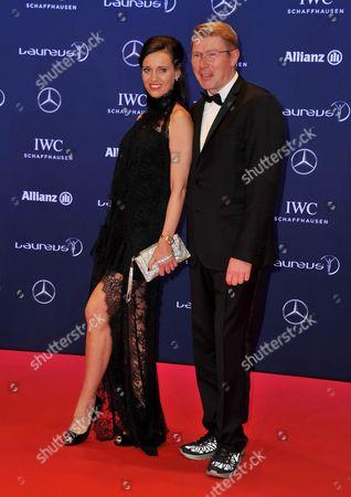 Mika Hakkinen with Marketa Remesova