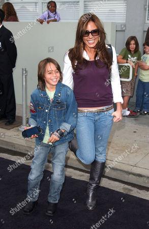 Krista Allen and son Jacob Nolan Moritt