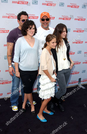 Johnny Messner, Bruce Willis with daughters Rumer, Tallulah Belle and Scout Larue
