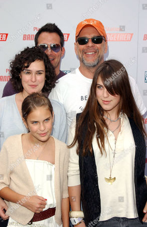 Johnny Messner, Rumer Willis, Tallulah Belle Willis, Bruce Willis and Scout Larue Willis