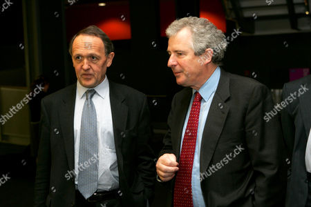 Sir John Browne, Chairman and CEO of BP with William Waldegrave at the Science Museum, London