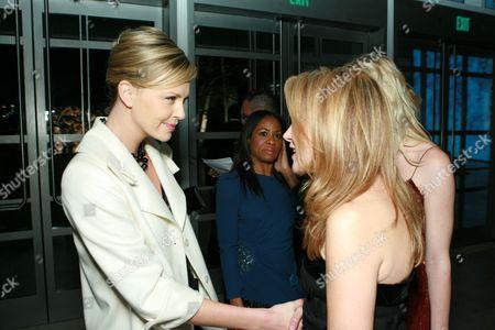 Stock Image of Charlize Theron and Marla Sabo