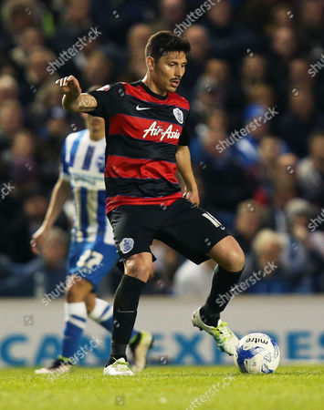 Alejandro Faurlin of Queens Park Rangers during the Sky Bet Championship match between Brighton and Hove Albion and Queens Park Rangers played at The Amex Stadium, Brighton on 19th April 2016