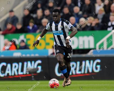 Stock Picture of Cheik Tiote of Newcastle United during the Barclays Premier League match between Newcastle United and Manchester  City played at St. James' Park, Newcastle upon Tyne, on the 19th April 2016