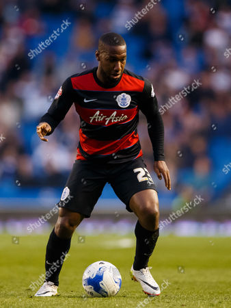 David Hoilett of QPR during the SkyBet Championship match between Brighton and Hove Albion and QPR played at AMEX Community Stadium, London on April 19th 2016