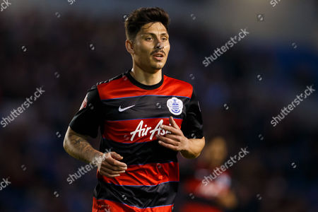 Alejandro Faurlin of QPR during the SkyBet Championship match between Brighton and Hove Albion and QPR played at AMEX Community Stadium, London on April 19th 2016