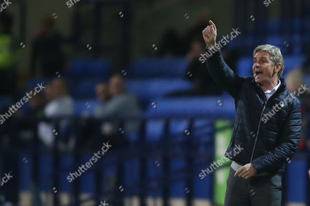 Charlton Athletic manager Jose Riga during the Sky Bet Championship match between Bolton Wanderers and Charlton Athletic played at the Macron Stadium, Bolton on April 19th 2016