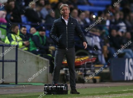 Stock Image of Charlton Athletic manager Jose Riga during the Sky Bet Championship match between Bolton Wanderers and Charlton Athletic played at the Macron Stadium, Bolton on April 19th 2016