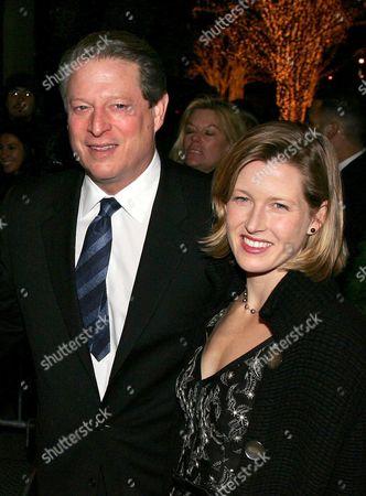 Al Gore and Karenna Gore Schiff