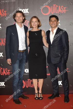 Stock Picture of Jan Koeppen Chairman Fox International Channels Europe and Africa, Kathryn Fink CEO Fox International Channels Italy, Diego Londono Chief Operating Officer (COO) Europe and Africa for Fox International Channels