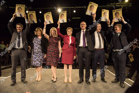 Scottish First Minister Nicola Sturgeon and Stewart Hosie MP launch the SNP's Manifesto