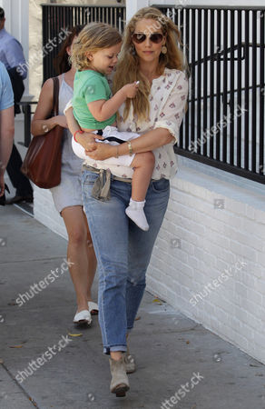 Elizabeth Berkley and son Sky Cole Lauren