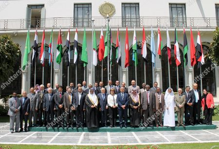 Editorial picture of Heads of Joint Arab Action Organisations honour Secretary-General of the Arab League, Cairo, Egypt - 20 Apr 2016