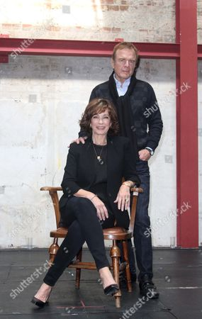 Stock Picture of Anne Archer and play author Terry Jastrow