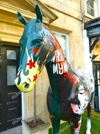 Editorial photo of Street art horse sculpture, Bath, Britain - 21 Apr 2016