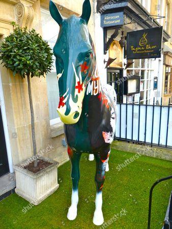 Editorial image of Street art horse sculpture, Bath, Britain - 21 Apr 2016