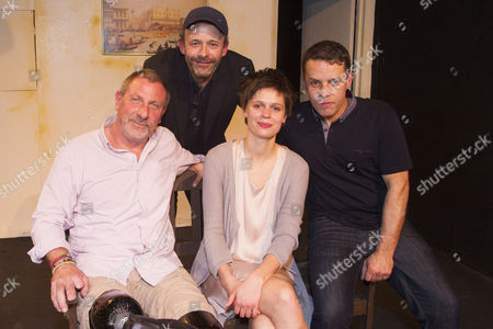 Editorial picture of 'Blue on Blue' play, After Party, London, Britain - 21 Apr 2016