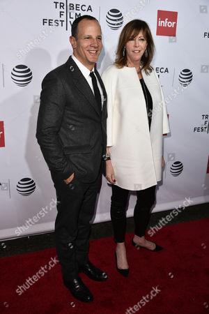Tribeca Enterprises CEO Andrew Essex (L) and Tribeca Enterprises Co-Founder, Jane Rosenthal