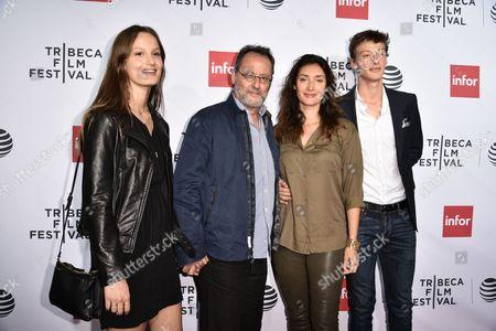 Jean Reno, Zofia Borucka and Family