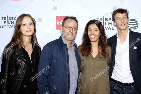 Jean Reno (2nd from L) and Zofia Borucka (3rd from L) with Guest